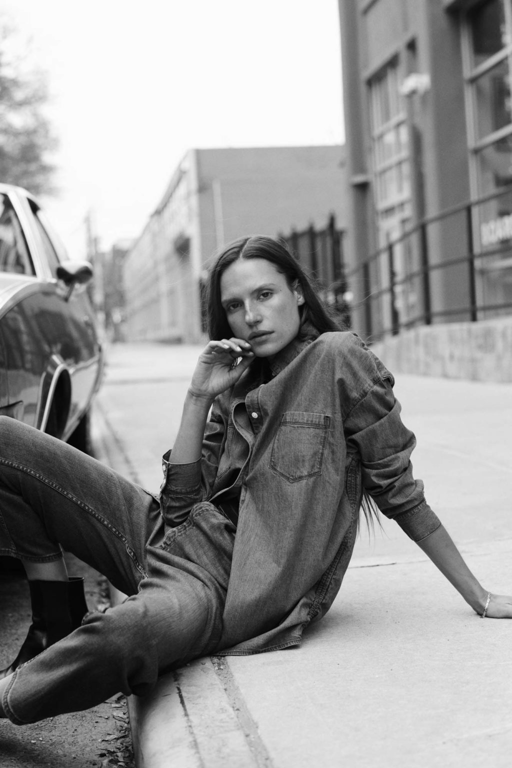 3x1_denim_model_portrait_outside_bw